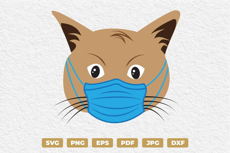 Cat Wearing Face Mask Cute Cat Face Svg Cat Expression Svg Etsy Cute Cat Face Funny Cat Faces Cat Expressions