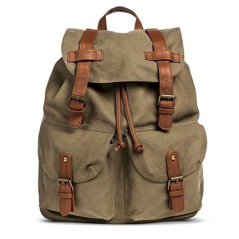Women's Solid Canvas Backpack Handbag with Drawstring Closure ...