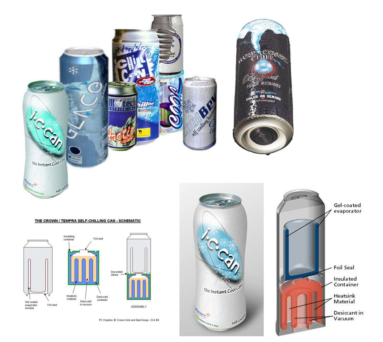 Self Chilling Cans From Crown Cork And Seal Packaging