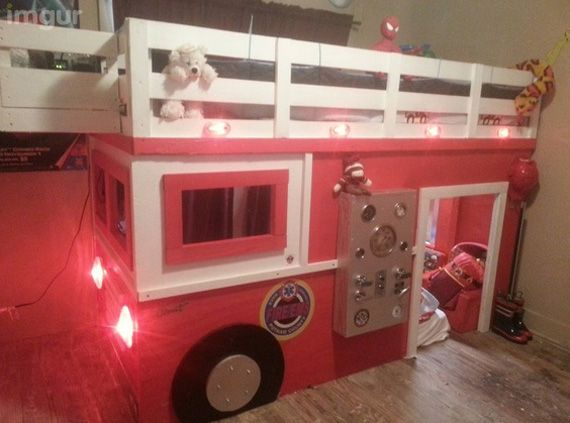 firetruckbed for ryan and gails kids Amazing Rooms