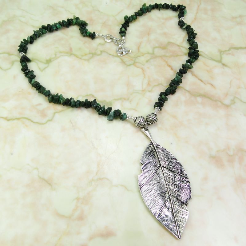Tourmaline 925 Sterling Silver Overlay Necklace 22inch RV104-49991 #Necklace