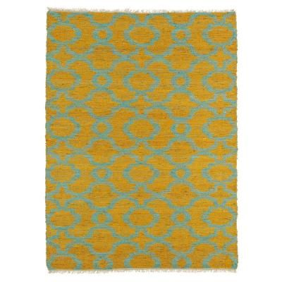 Kaleen Kenwood Turquoise 7 ft. 6 in. x 9 ft. Double Sided Area Rug-KEN07-78 7.6 X 9 - The Home Depot