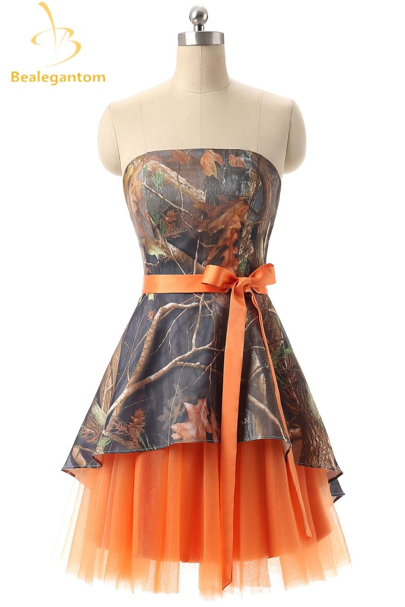 Bealegantom New Mini A-Line Short Camouflage Homecoming Dresses 2017 ...