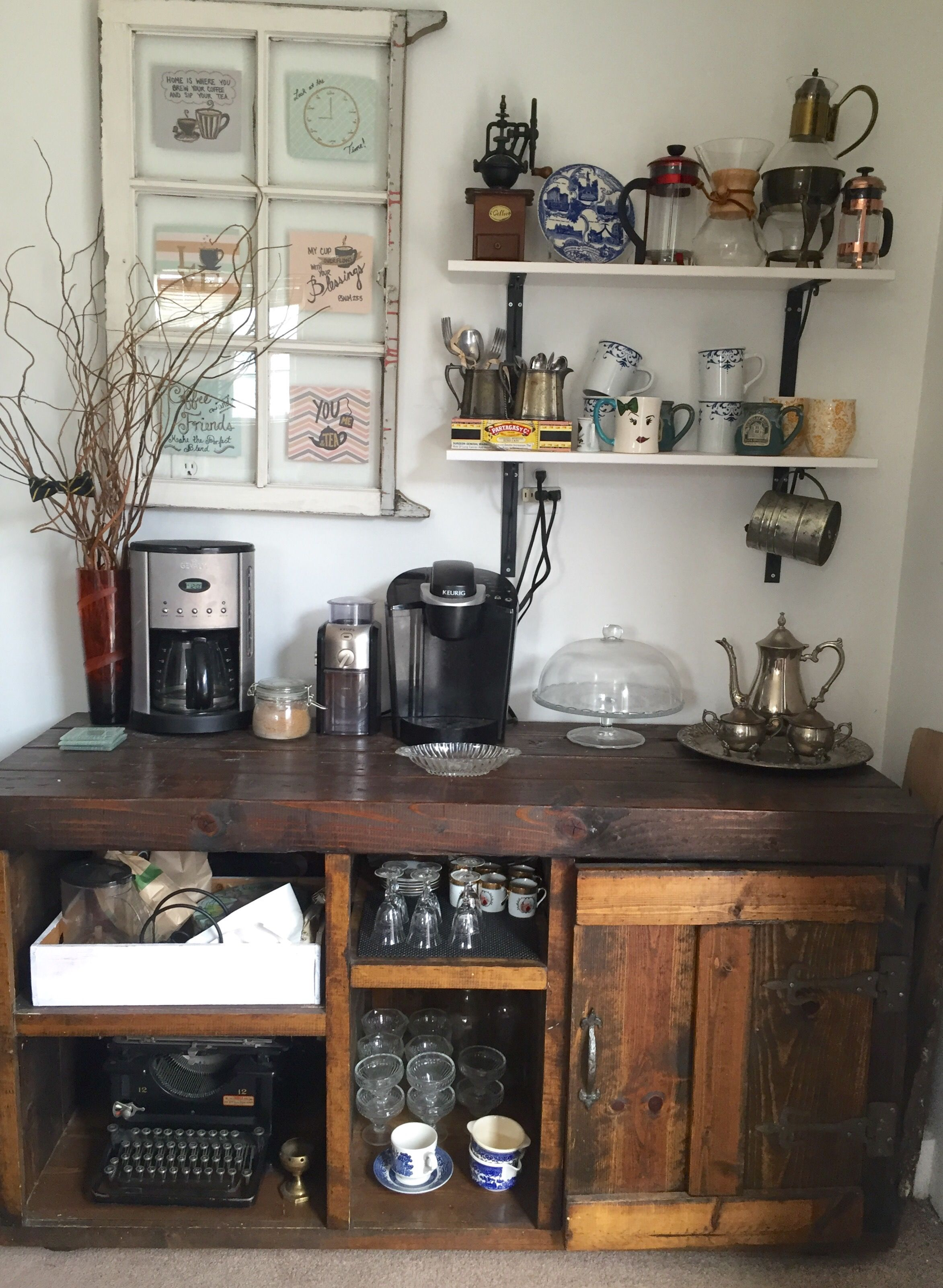 7 Tips To Creating A Welcoming Coffee Bar Both My Husband And I Coffee Bar Wine And Coffee Bar Home Design Diy