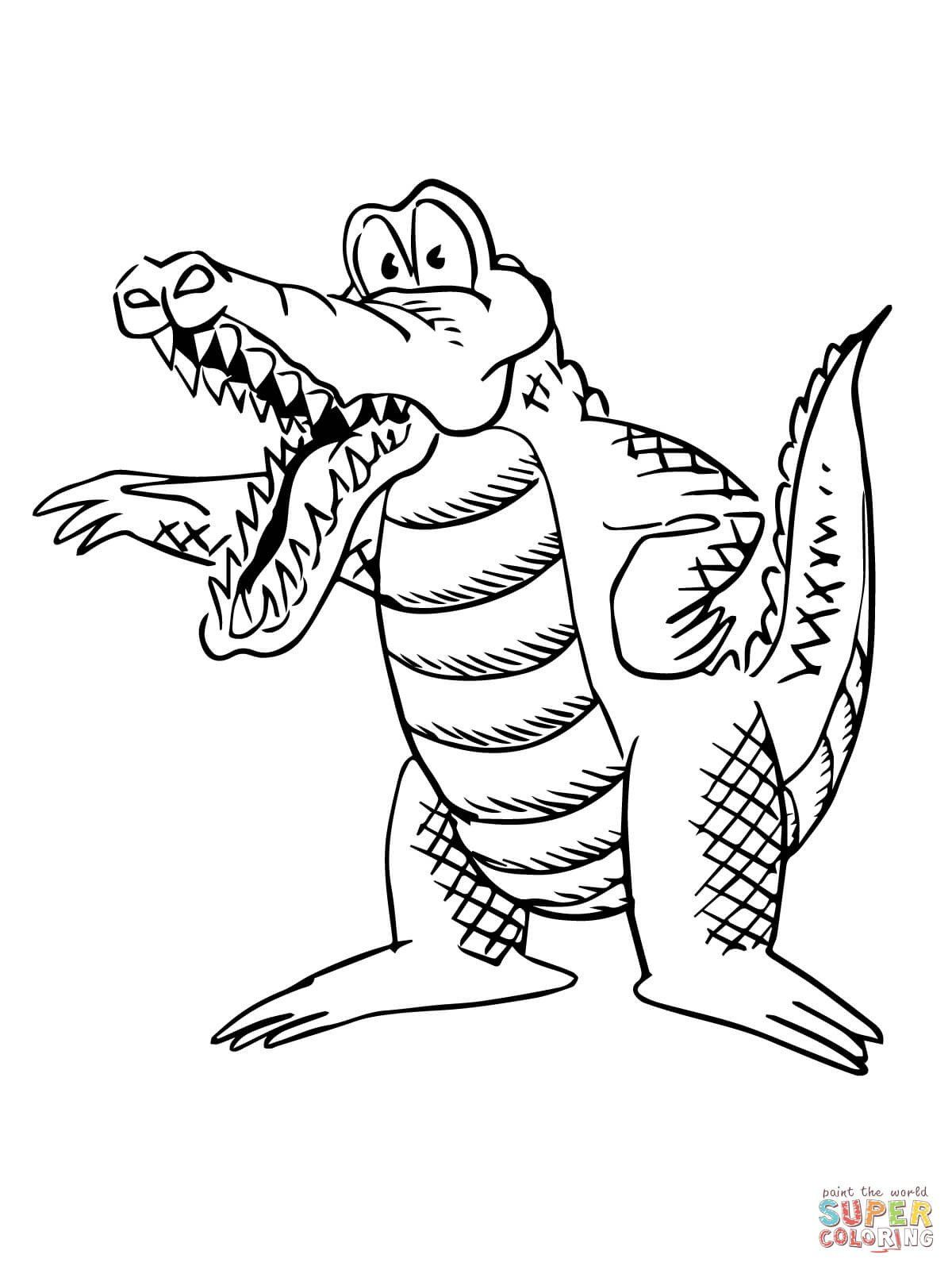 Cute Alligator Coloring Pages Cartoon Alligator Coloring Page In 2020 Cute Coloring Pages Deer Coloring Pages Free Printable Coloring