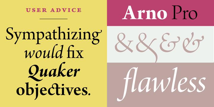 Arno Pro™ - Desktop font « MyFonts   Web mood board   Free fonts