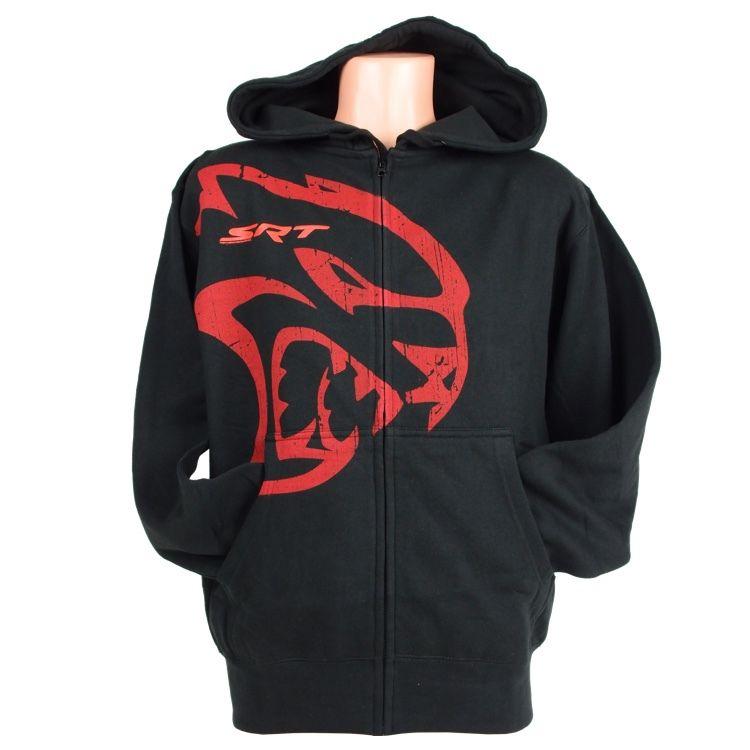 Mens Dodge® Hellcat Hooded Softshell Jacket Black