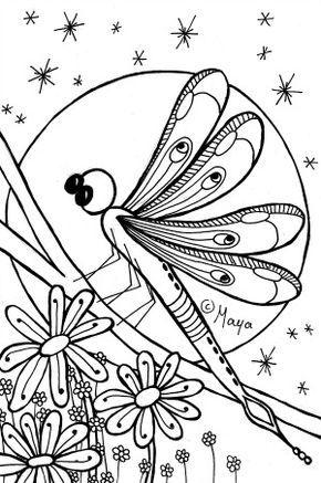Kleurplaten Voor Volwassenen Konijn.Kleurplaat Konijn En Libelle Insecten