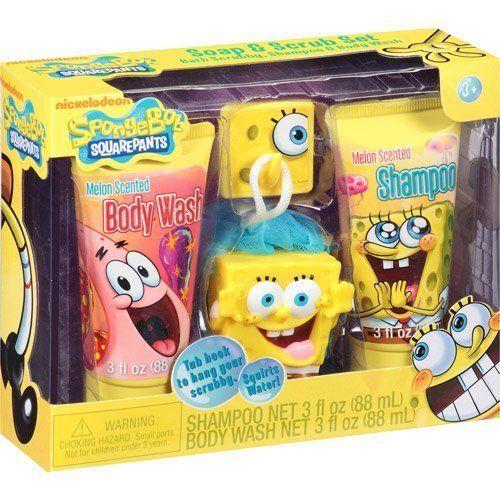 Spongebob Squarepants Soap & Scrub Set Bath Set NewBorn Kid Child Childern Infant Baby @ niftywarehouse.com