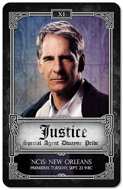 NCIS New Orleans Tarot Cards - Justice