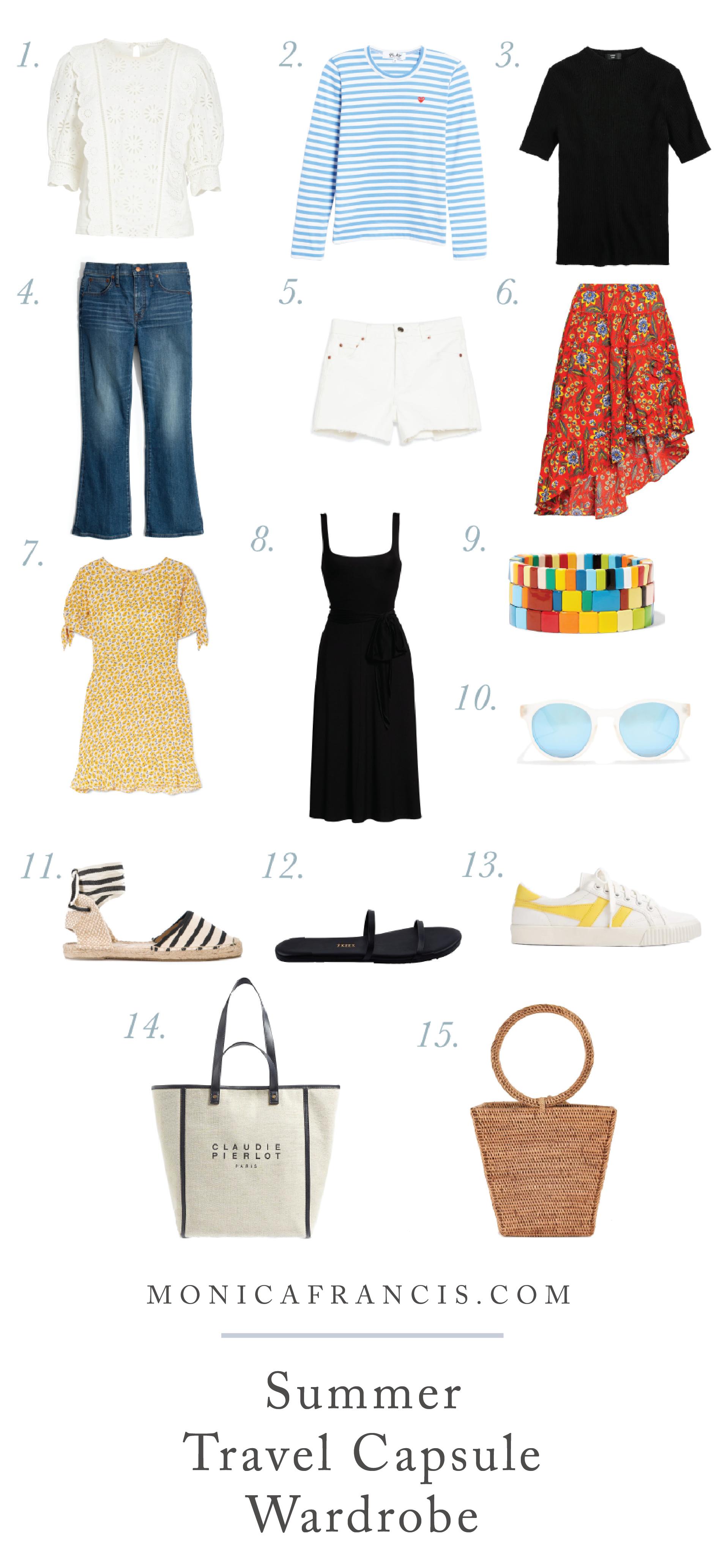 How to Pack a Travel Capsule Wardrobe #travelwardrobesummer