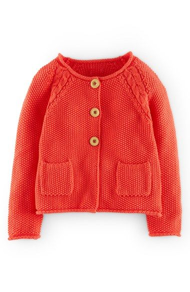 Mini Boden Cable Knit Detail Button Cardigan (Toddler Girls ...