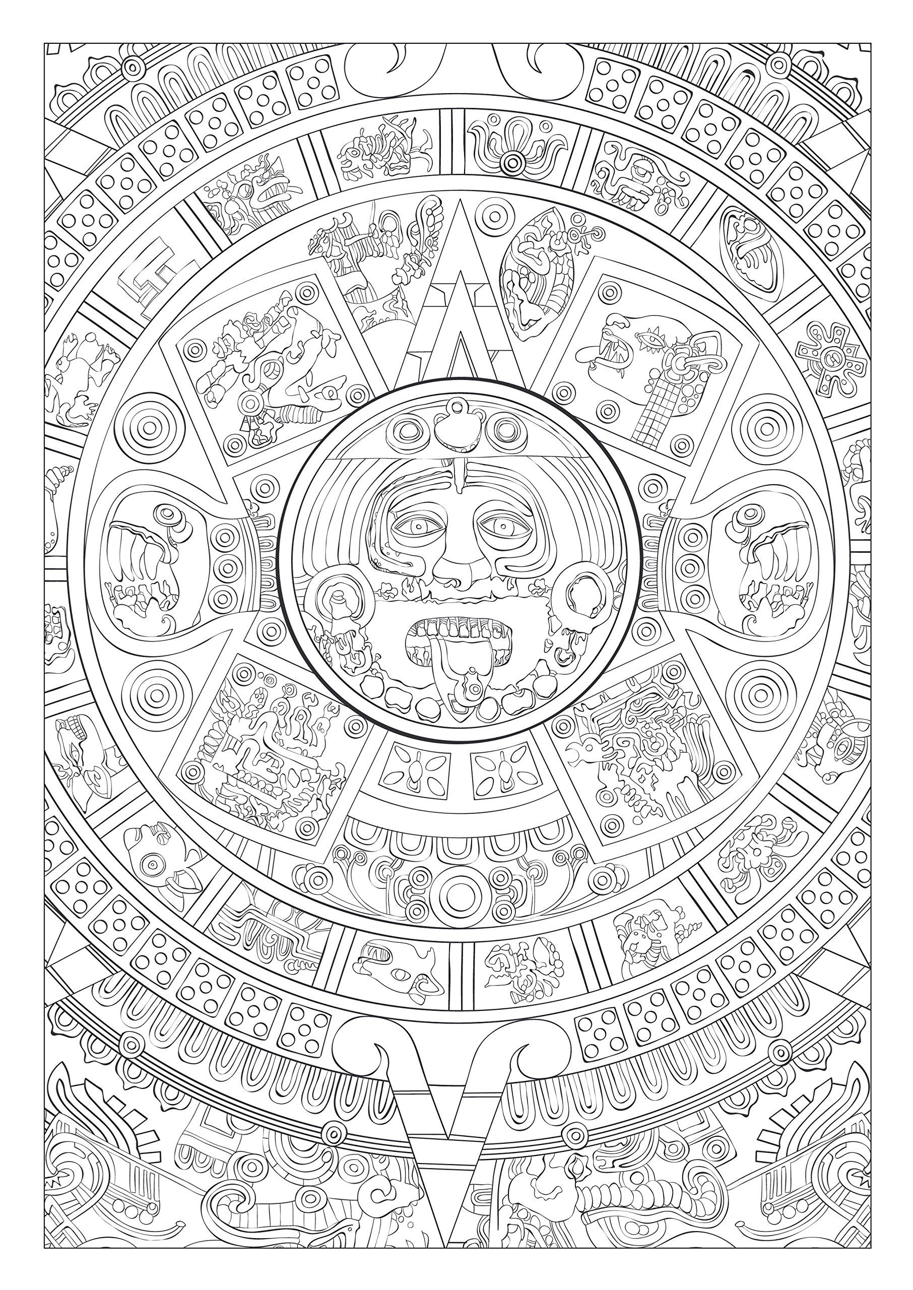 Colourtation anti stress colouring book for adults volume 1 - Art Therapie Mayas Et Azt Ques 100 Coloriages Anti Stress French Edition Collectif Hachette Books Download Image Co Colourtation Anti Stress Colouring