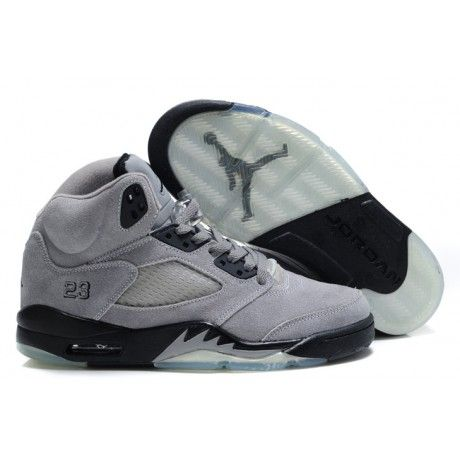cf65ad252f70 Air Jordan 5 (V) Fluff Cool Grey Black-White