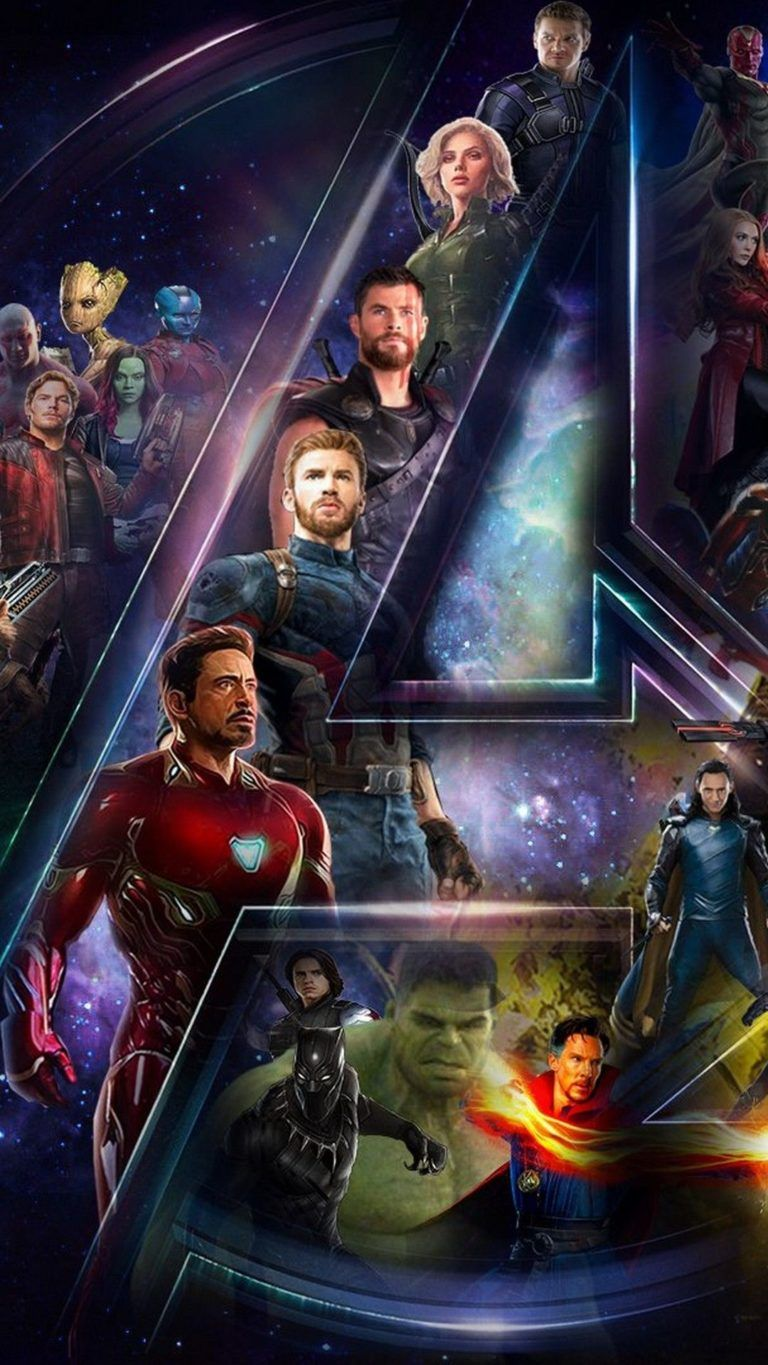 Avengers End Game Abstract team inside the Avengers logo