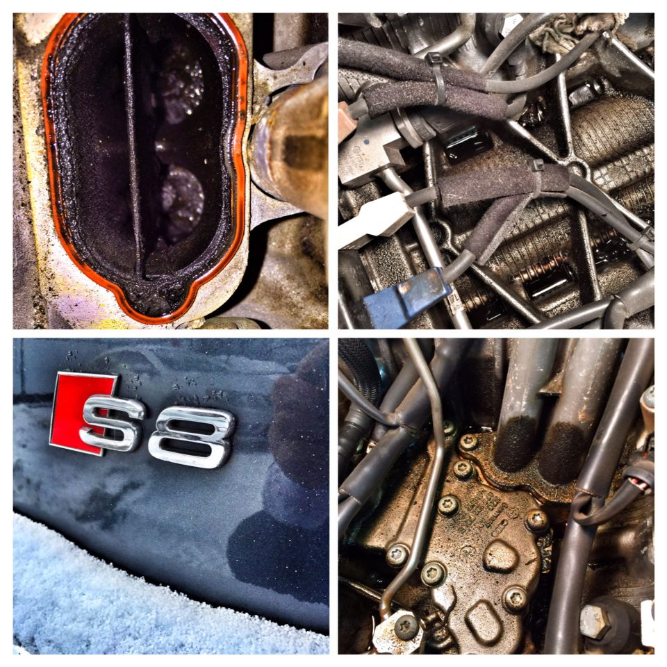 Another 5 2l Engine In For Heavy Oil Leak And Carbon Build Up Cleaning 2008 Audi S8 Carbon Cleaning And Oil Leak Repair Audi Va Leak Repair Oil Leak Audi