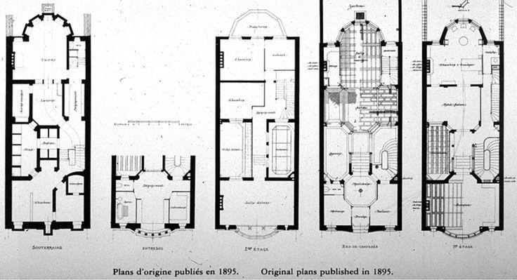 Victor Horta Designs Hotel Floor Plan How To Plan Art Nouveau Architecture