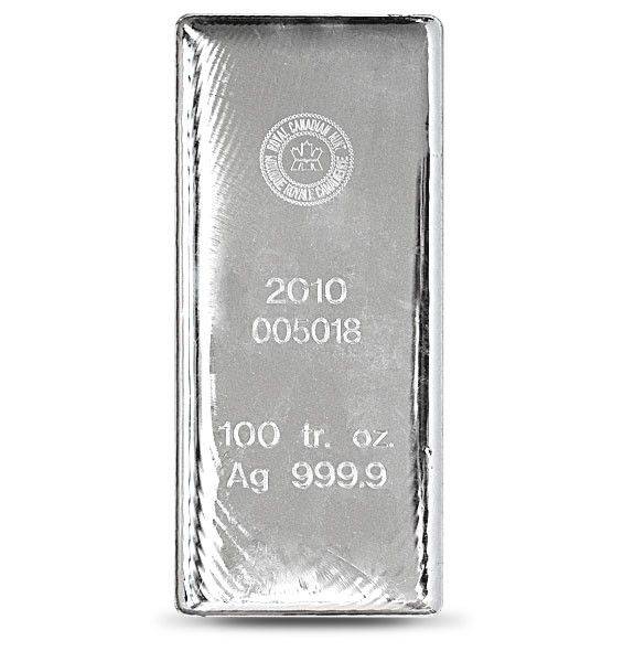 Royal Canadian Mint Silver Bar 100 Ounce Vat Free Silver Bars Silver Bullion Silver