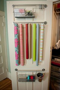 Wrapping Paper Organizer