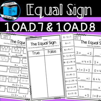 The Equal Sign and Balancing Equations Worksheets Equals