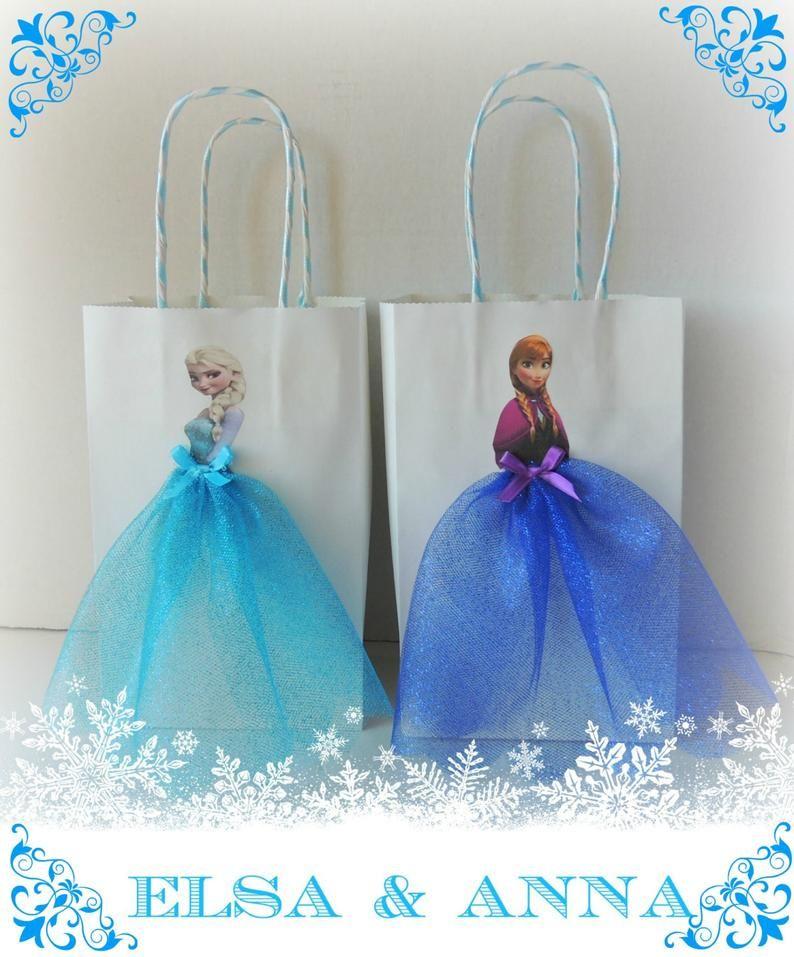 10 Pieces Frozen Elsa Anna Paper Tutu Birthday Favor Goody