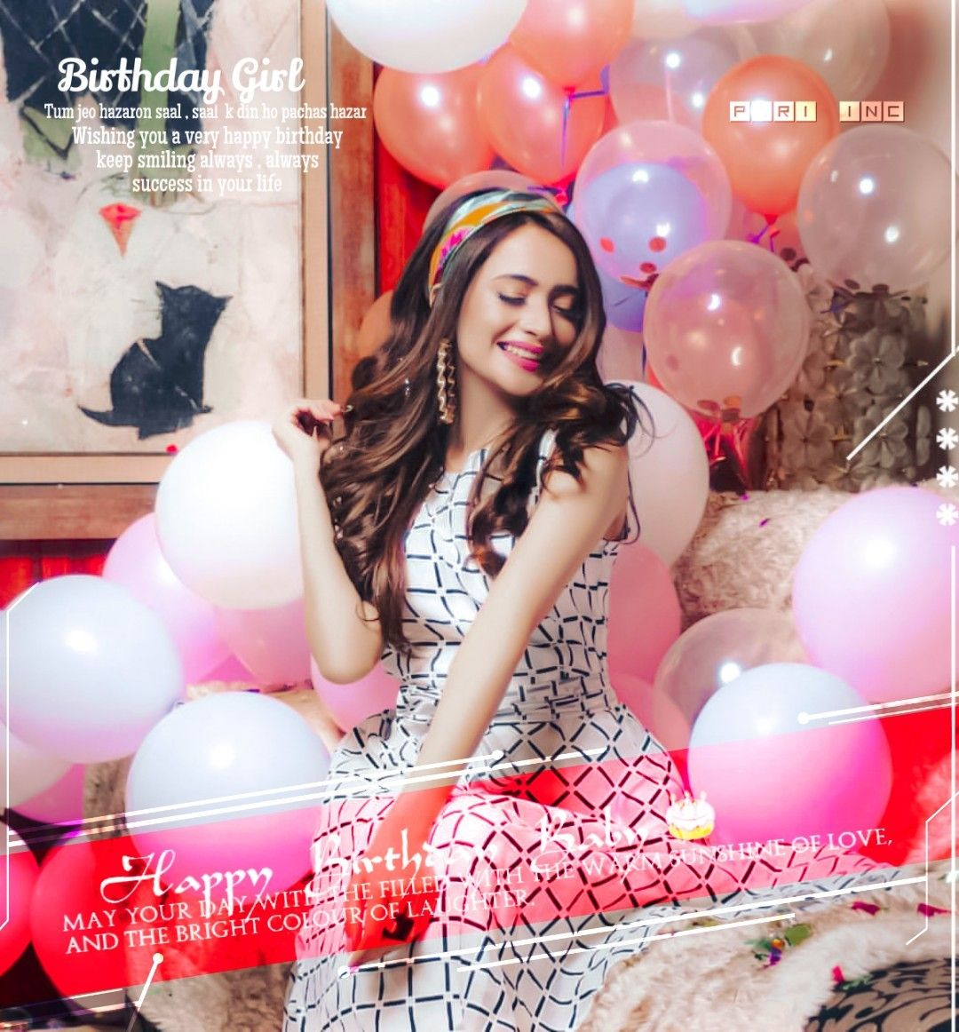 Cute Birthday Pictures By Syeda Shah On My Creation Bday Girl