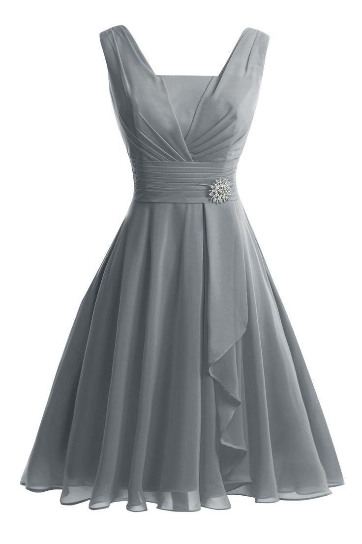 VP Damen Tank Kurz Knielanges Prom Abendkleid Brautjungfer Kleid