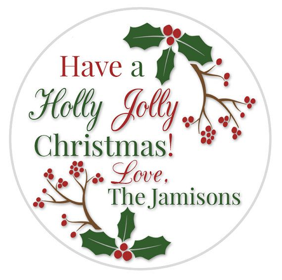 holly christmas labels holly jolly envelope by moonlitprintables