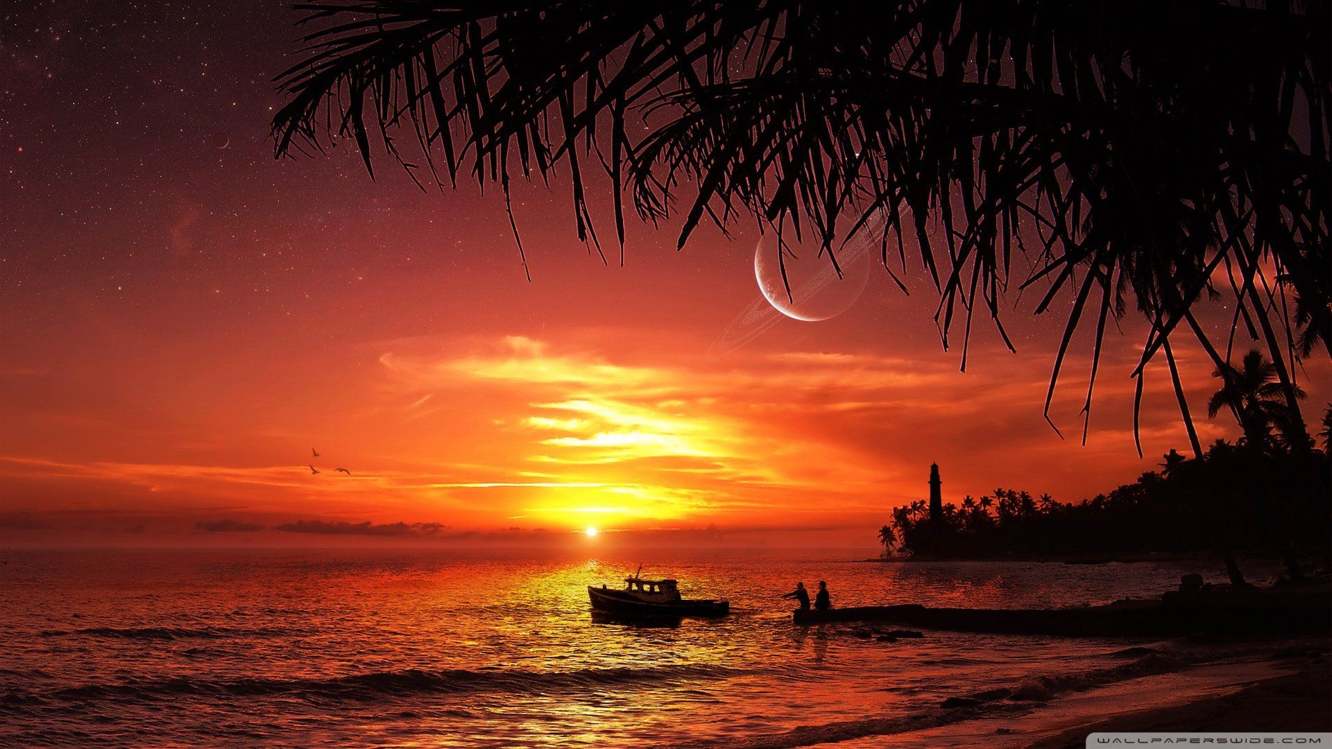 Beach Sunset Wallpapers 1024x768 51