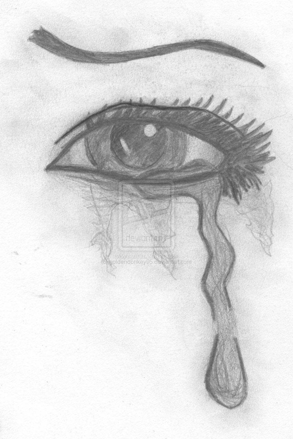 Sad Eyes Drawing : drawing, Drawing, Drawing,, Crying