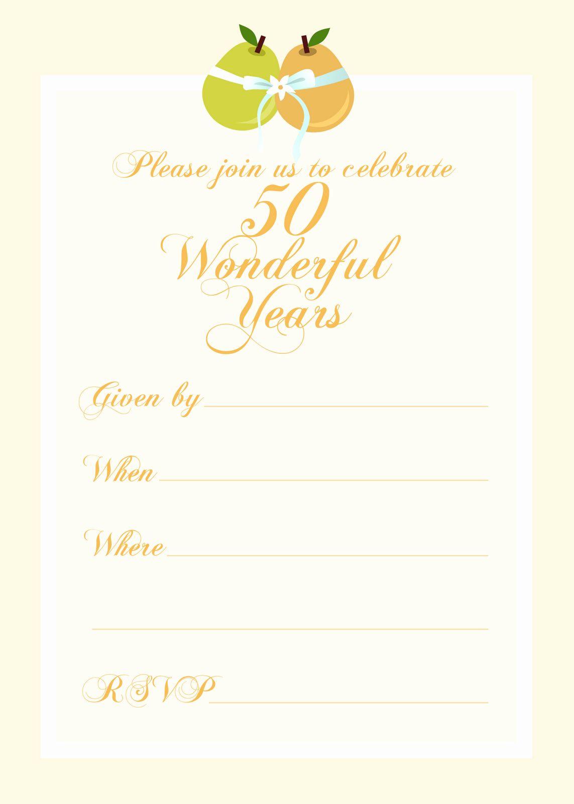 50th Wedding Anniversary Invitations Template Elegant Free In 2020 50th Wedding Anniversary Invitations Wedding Anniversary Invitations Wedding Invitation Card Design