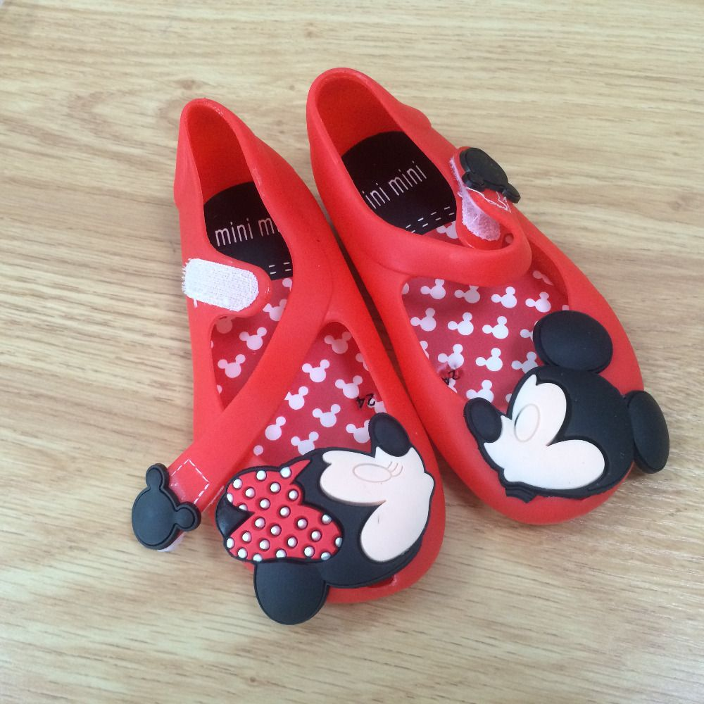 Sandals and shoes wholesale - Cute Kids Girls Beach Sandals Mickey Minnie Mini Melissa Shoes Baby Children Footwear Candy Smell Shoes