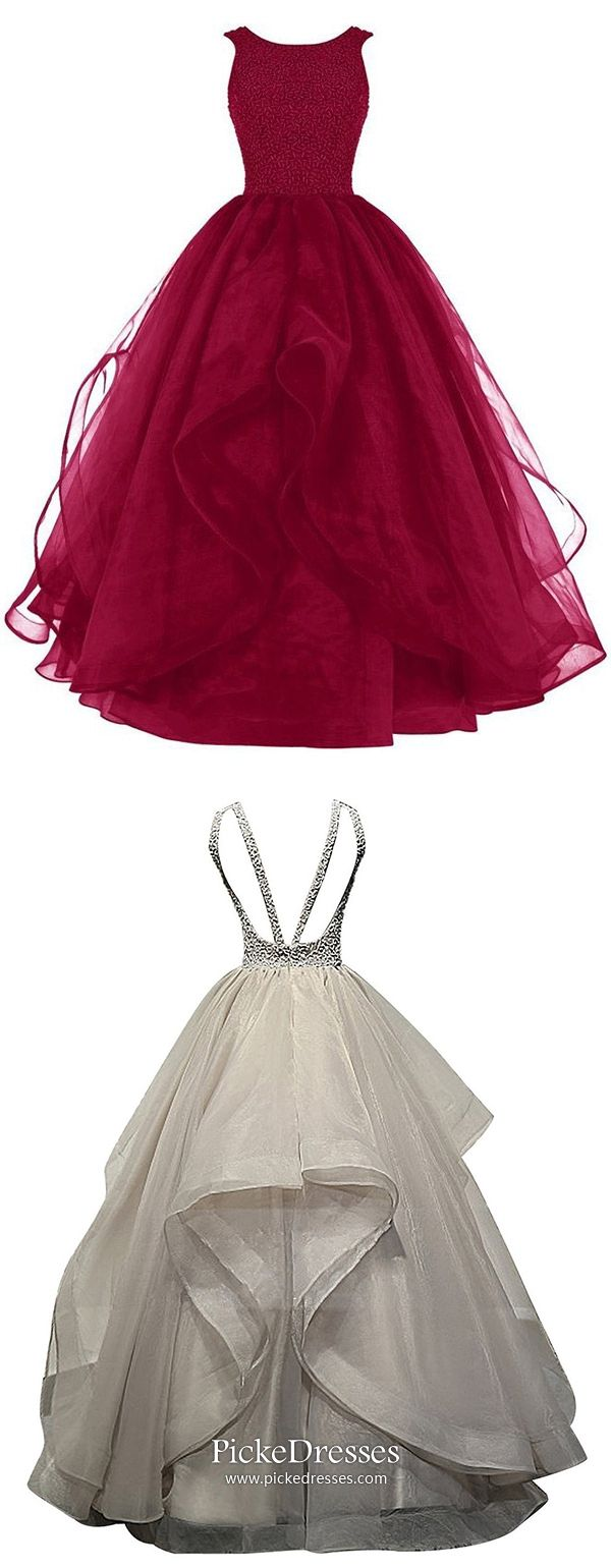 Burgundy prom dresses long ball gown formal dresses for teenagers