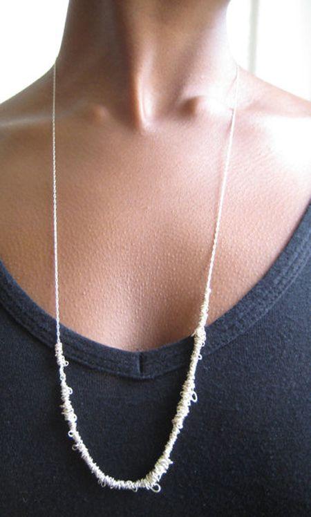 Embroidery Thread Design Crush Fiber Jewelry Lovely Jewellery