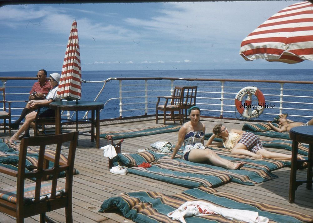 Mm Slide Queen Of Bermuda Cruise Ship Deck Life Preserver - Queen of bermuda cruise ship
