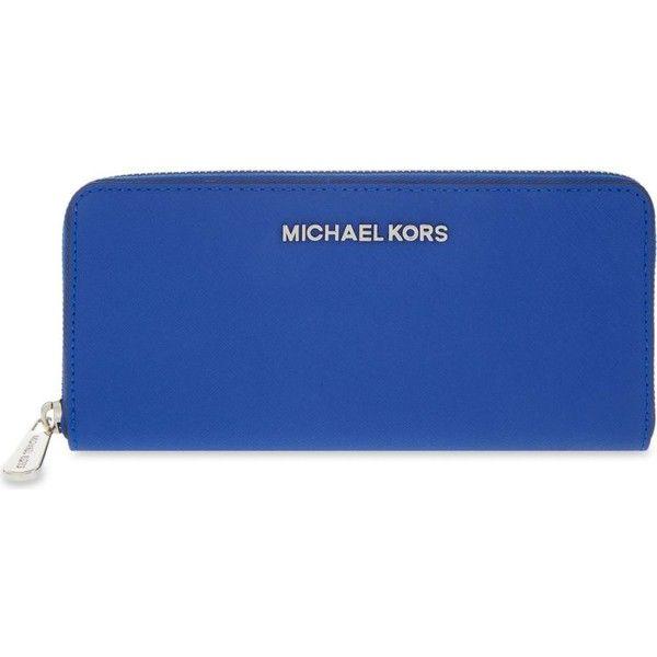 1cfa6d7a6d871e MICHAEL MICHAEL KORS Jet set travel continental zip-around wallet ($190) ❤  liked