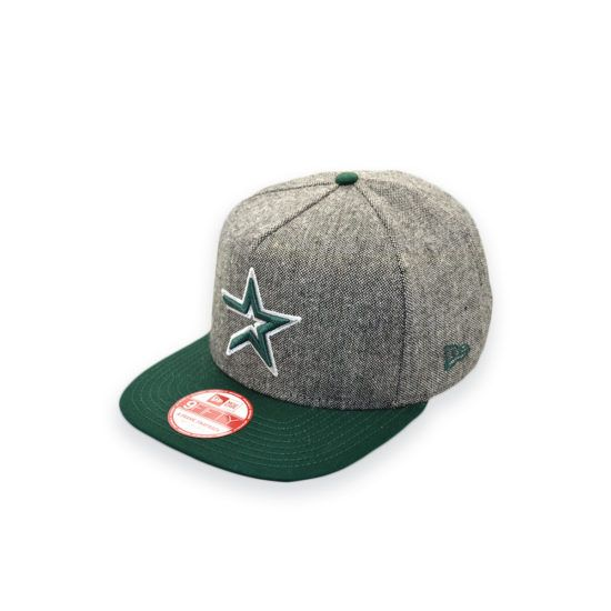 NEW ERA HOUSTON ASTROS TWEED GREEN A-FRAME SNAPBACK CAP HAT | New ...