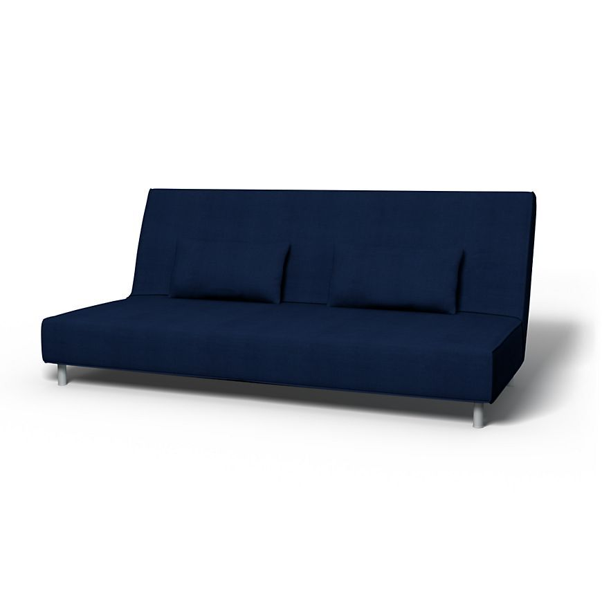 Beddinge Sofa Covers Sofa Bed Regular Fit Using The Fabric Belgian Linen Blend Deep Navy Blue 3 Seater Sofa Bed Sofa Bed Sofa