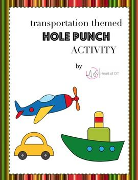 Transportation Themed Hole Punch Activity | Occupational Therapy