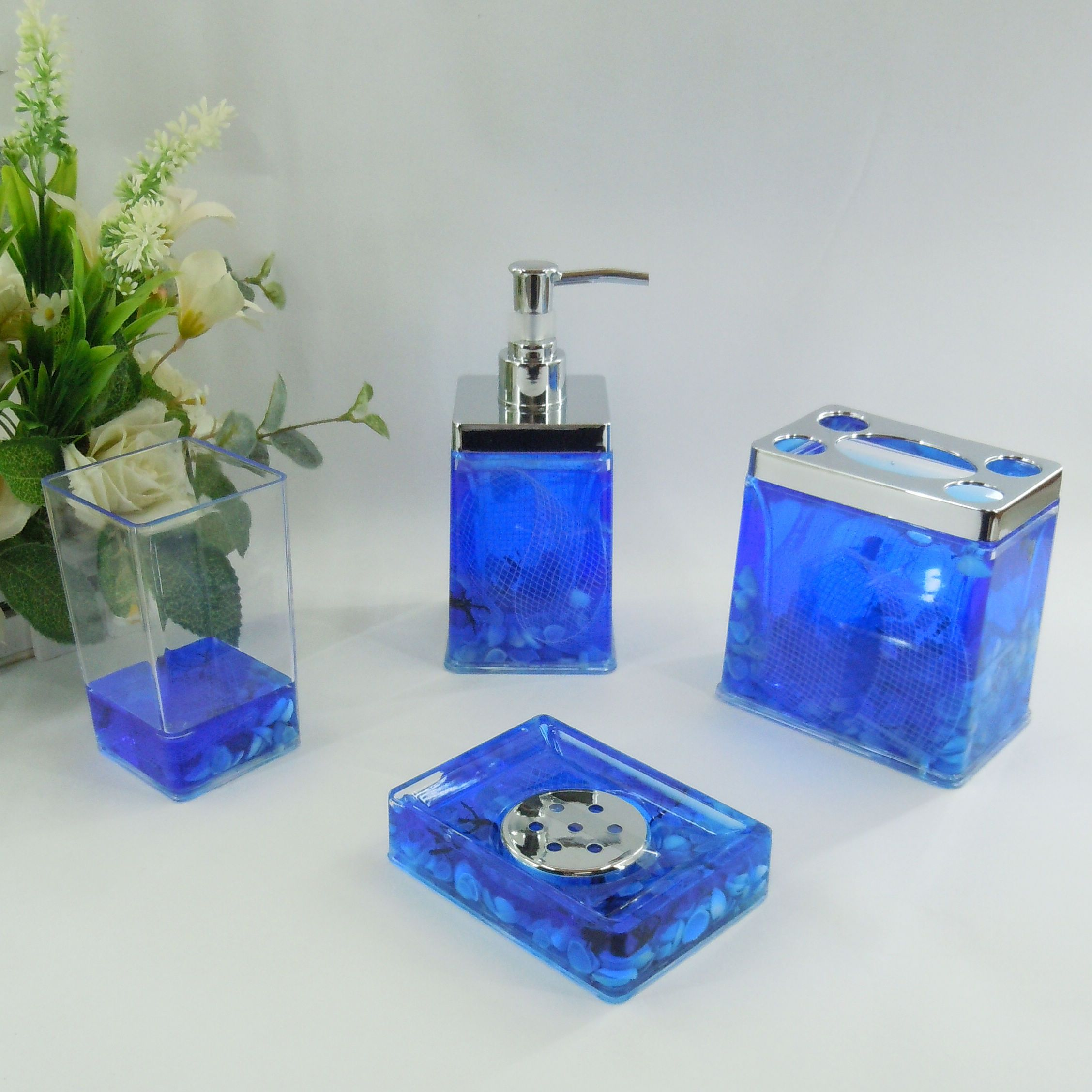 bathroom decor sets.  19 99 Blue Sea Conch Acrylic Bath Accessory Sets H4005 Wholesale Faucet