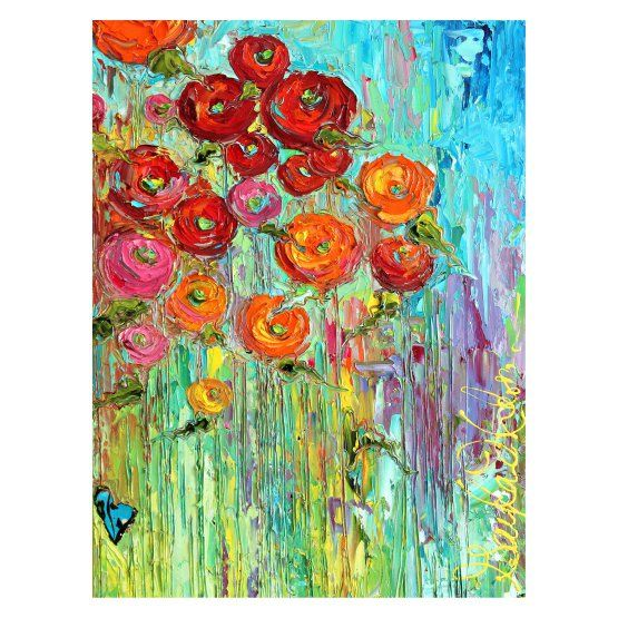 West of the Wind Poppies #6 Outdoor Canvas Wall Art   Jamaica ...