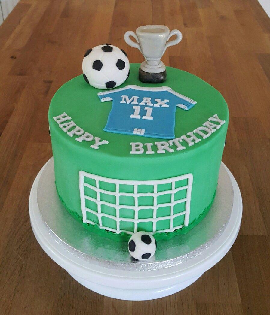 Soccer Football Theme Birthday Cake Fondant In 2019 Cake