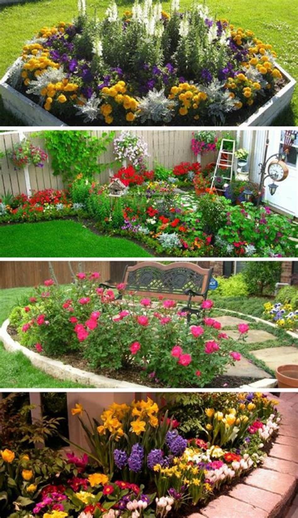 43 Most Beautiful Flower Garden Landscaping Ideas Homenthusiastic Backyard Flowers Garden Flower Garden Plans Flower Garden Pictures