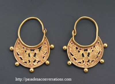 Ancient Middle Eastern Gold Earrings Wow Gorgeous Love The Engraving And Cutouts Most Jewelry Making Tools Methods Today Are Same They Were