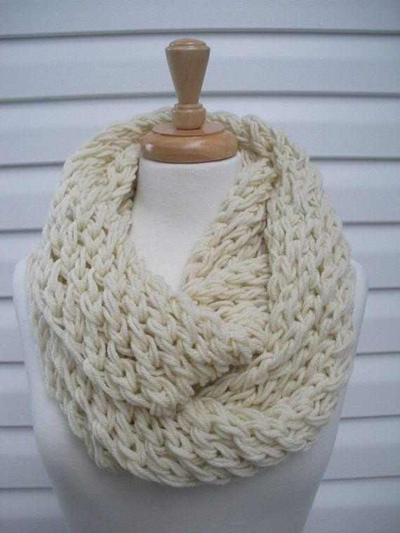 Women Scarf Cowl Hand Knit Scarf Winter by creationsbyellyn