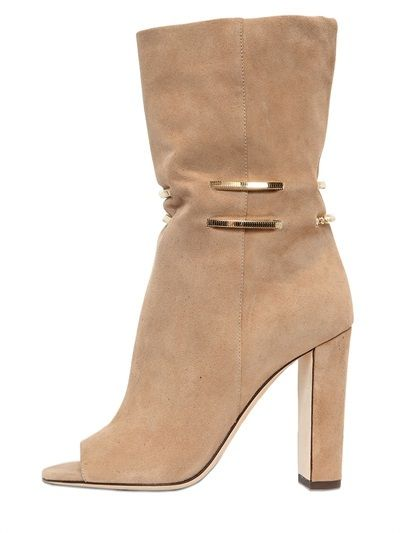 100mm Mysen Chained Suede Open Toe Boots  $1,350 $945