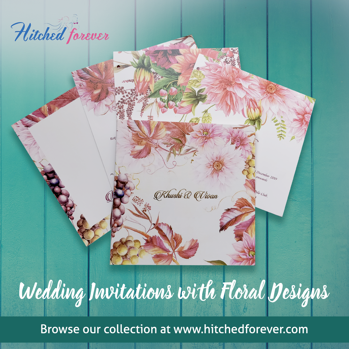 Spring theme wedding invitations! Choose from our