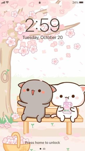 CUTE AESTHETIC MOCHI Cats Peach and Goma App Icons