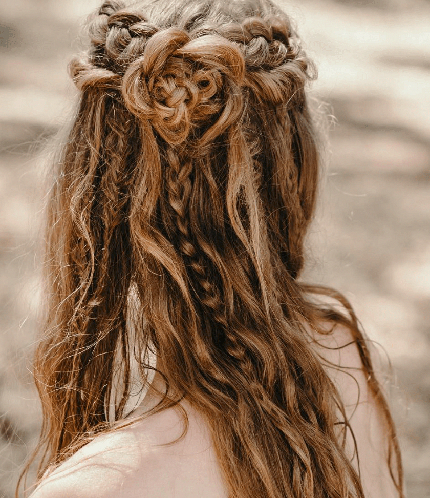 Boho Bridal Hairstyles For Carefree Bride: 10 Bohemian Hairstyles For Your Dreamy Wedding Day #boho