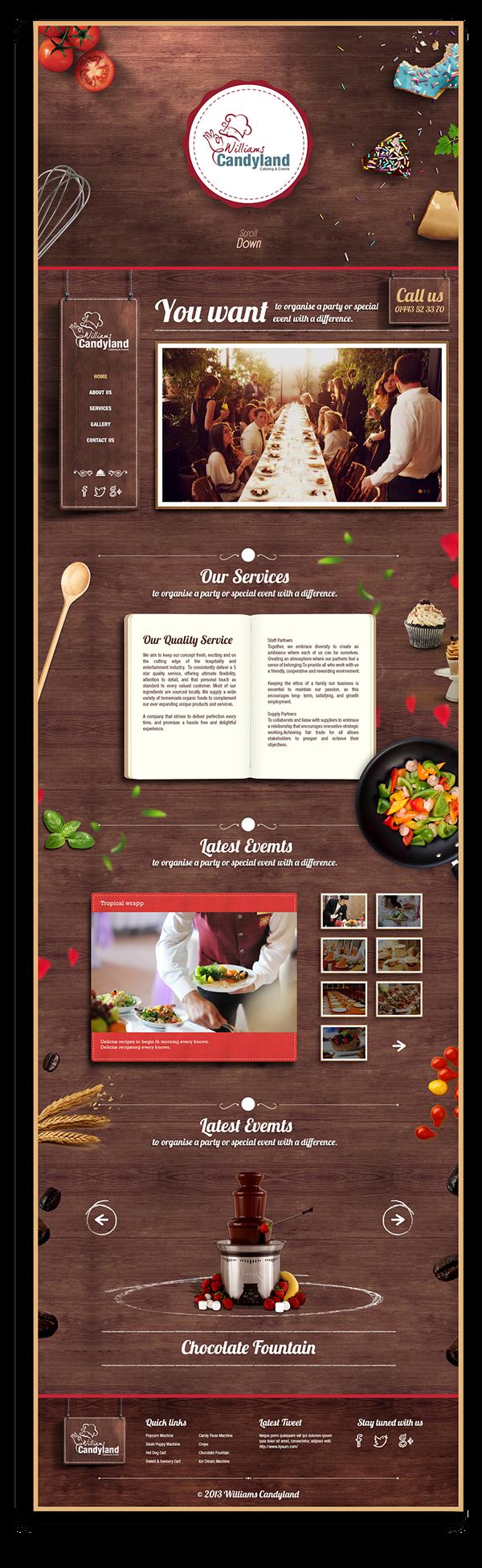 Cool Web Design, William's Candyland. #webdesign #webdevelopment [http://www.pinterest.com/alfredchong/]